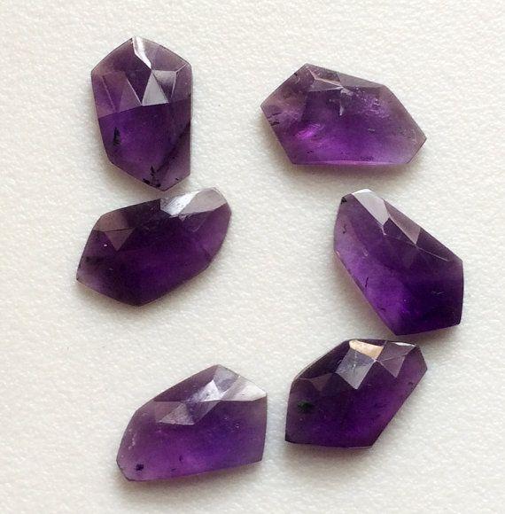 WHOLESALE 8 Pcs Purple Chalcedony Rose Cut Purple by gemsforjewels