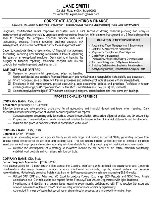 click here to download this accounting and finance resume sample        resumetarget com