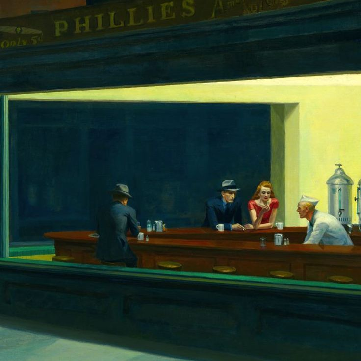 Edward Hopper Inspiration classic is always simplistic at first glance, then you find the amazing with in