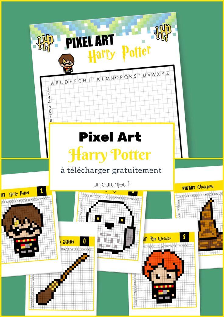 Pixel Artwork Harry Potter, c'est magique !
