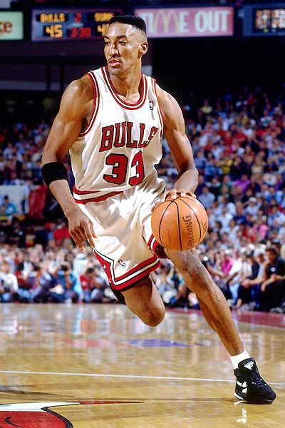 Scottie Pippen, who played for the Chicago Bulls from 1987 to 1998 and 2003 to 2004.