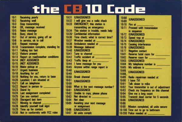 The Cb 10 Code Cb 10 Codes 10 Codes Coding