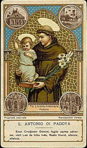 S. Antonio di Padova - Holy card / Image pieuse / Heiligenbild | Flickr - Photo Sharing!