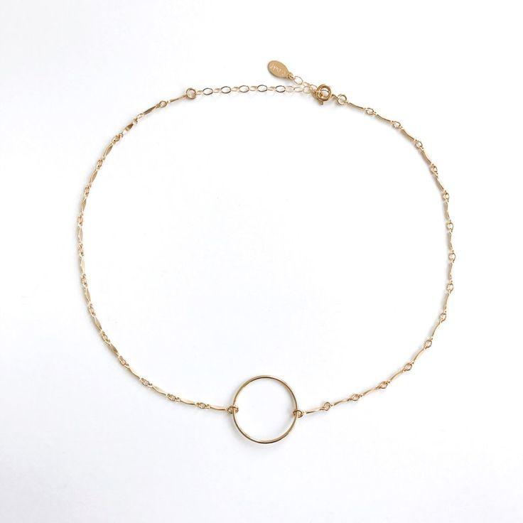 Ella Eternity Choker Necklace   Eternity necklace   Circle choker   Gold Circle necklace #circlenecklace #daintyjewelry #layeringnecklaces
