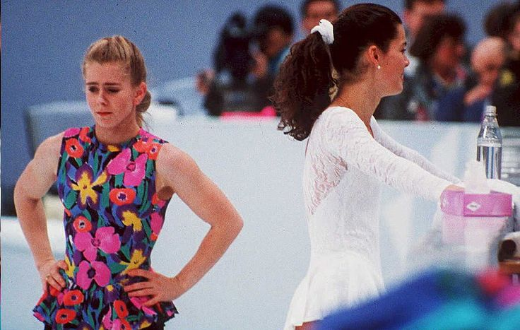 Ahead of the 1994 Lillehammer Games, Tonya Harding's former husband hired a man to break the leg of U.S. rival skater Nancy Kerrigan. Description from edition.cnn.com. I searched for this on bing.com/images