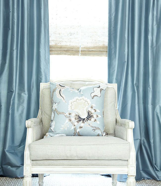 Image result for heavy silk blue curtains - blue bedroom curtains