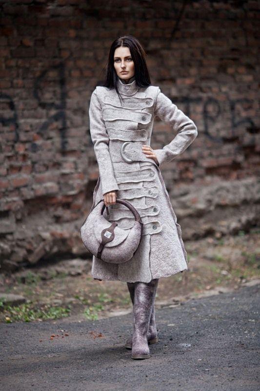 Диана Нагорная felted coat at  samodivka.ru  Designer Diana Sermon of Ukraine