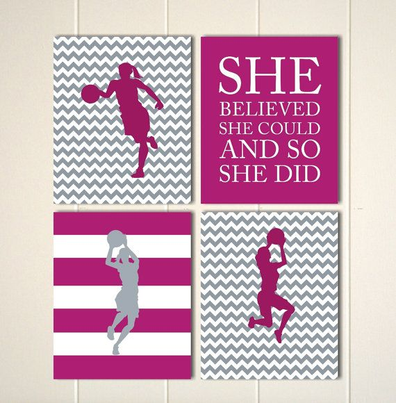 Girls Wall Art Basketball Dorm Poster Girls By PicabooArtStudio Part 46