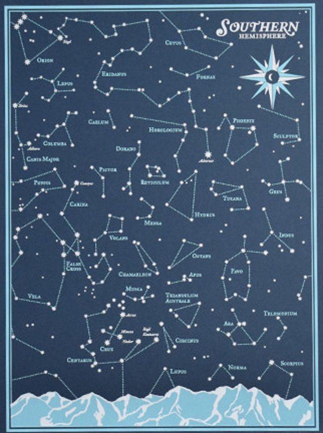 Southern Hemisphere Constellation Chart