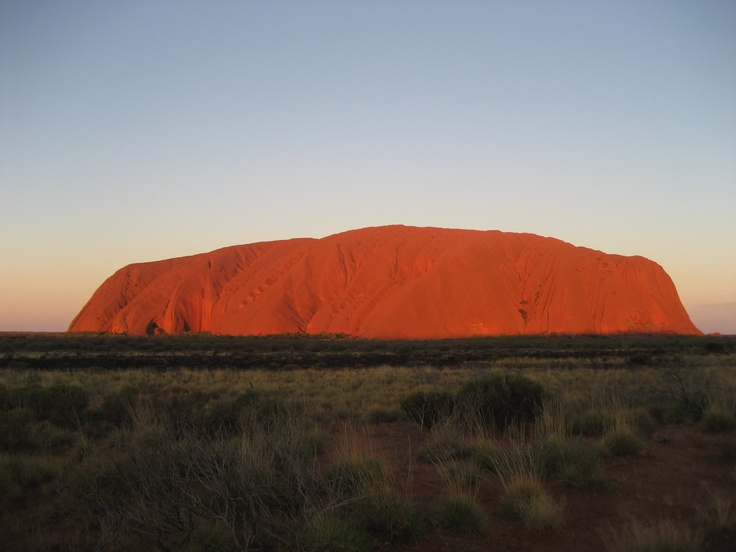 This is Ayers Rock on the 1st May 2009 at 8:43pm.