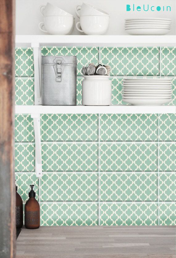 Tile/Wall/wood/ stair riser/ glass/ metal/floor decal :Classic Moroccan Pattern 44 pcs
