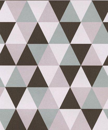 Trendig tapet med geometriskt mönster från kollektionen Podium POD503. Klicka för att se fler inspirerande tapeter för ditt hem!