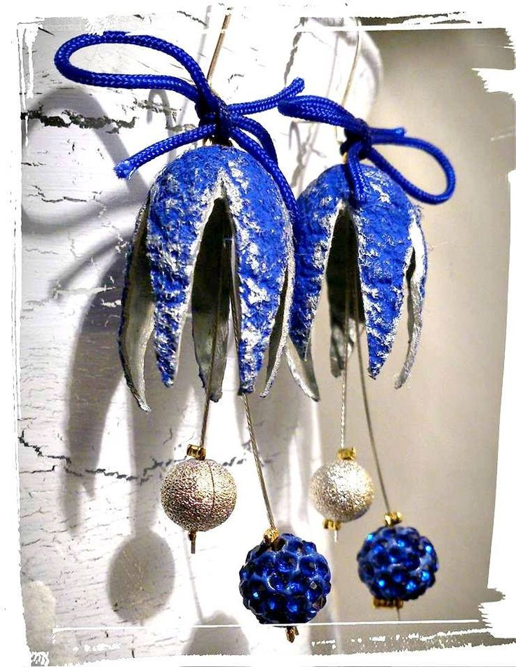 Silk cocoon unique earrings,OOAK, Handmade,natural material jewelry,Ready to ship,Dangle earrings,blue-silver color by SueEllenDreamland on Etsy