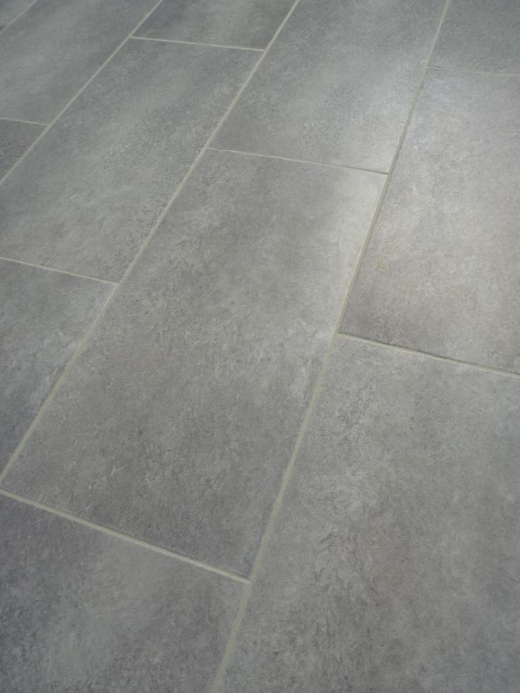 Kitchen floor idea TrafficMASTER Ceramica 12 in. x 24 in. Coastal Grey Vinyl Tile Flooring (30 sq. ft./case)
