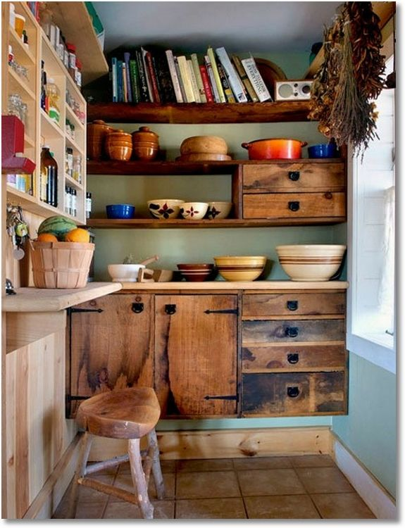 Rustic Kitchen Cabinets | Little Reclaimed Wood, Some Cool Hardware, A  Tablesaw, And