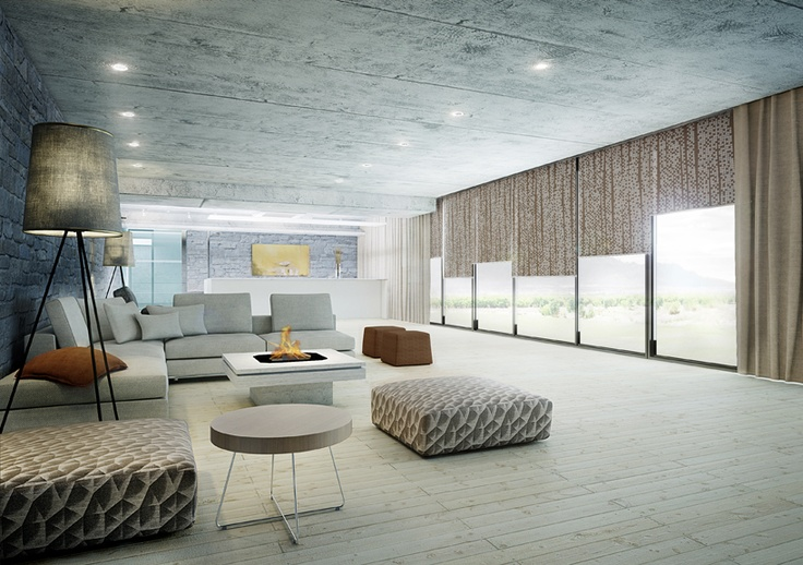 Forms Spaces Hotel Lobby Custom Printed Shades