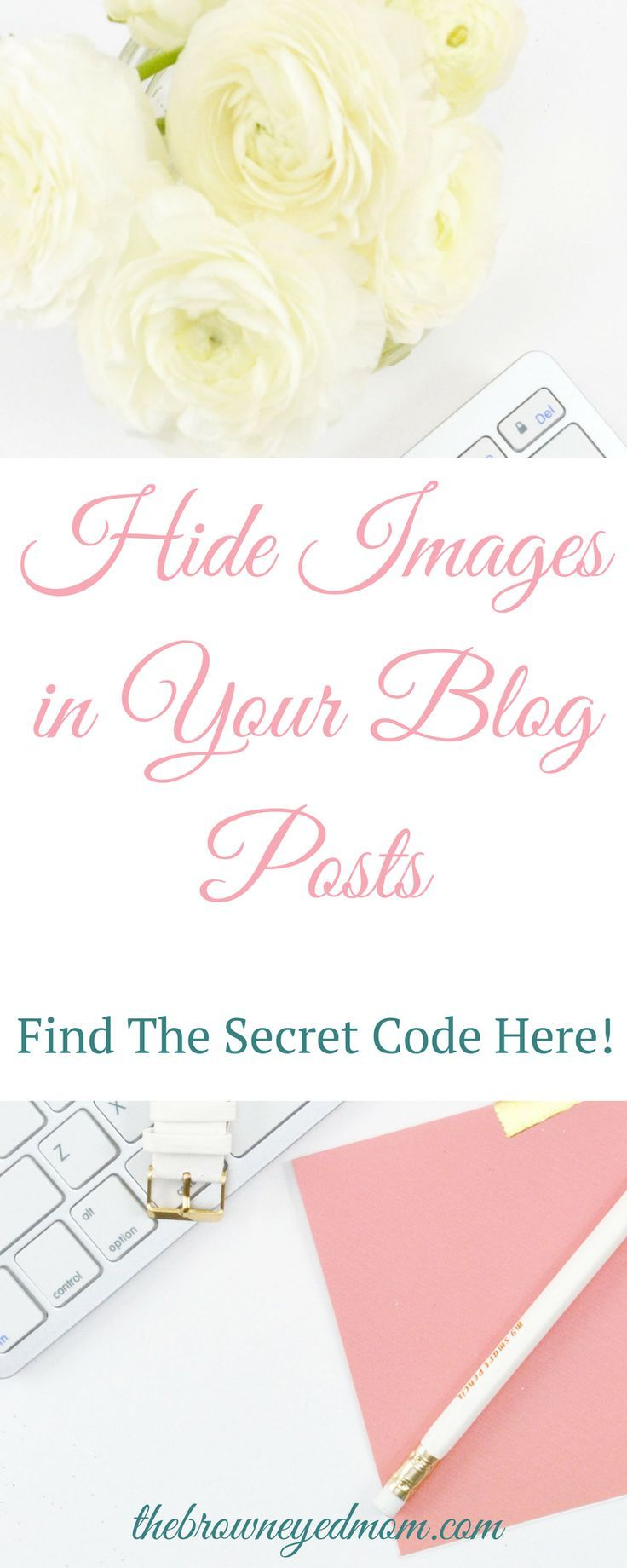 """Do you want to have more than one image on your blog posts and don't want them cluttering up the post? Are you wondering how other bloggers have endless images, but you don't see them in their blog posts? Find out here the """"secret"""" code bloggers use to add hidden images to their blog posts! #blogging #pinterestmarketing"""