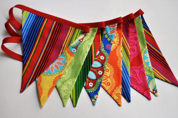 Cinco de Mayo fabric pennant banner bunting  by GiddyGumdrops
