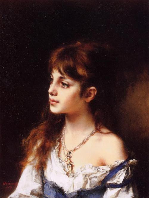The Young Model, Alexei Harlamoff. Russian (1840-1925)