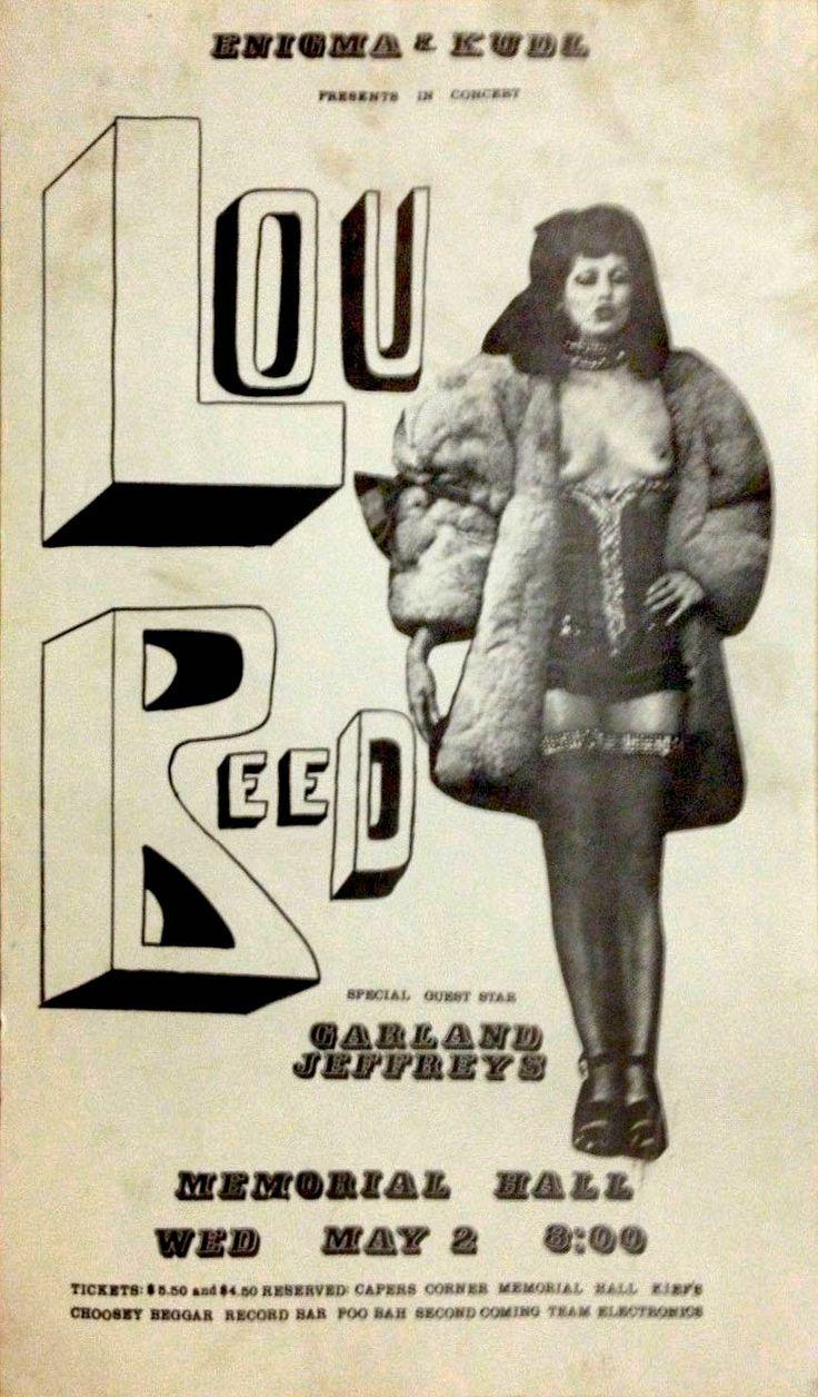 Lou Reed / Garland Jeffreys - Kansas City Memorial Hall - 2Wednesday may 2 1973
