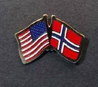 Lapel Pin - Norwegian/American Flag