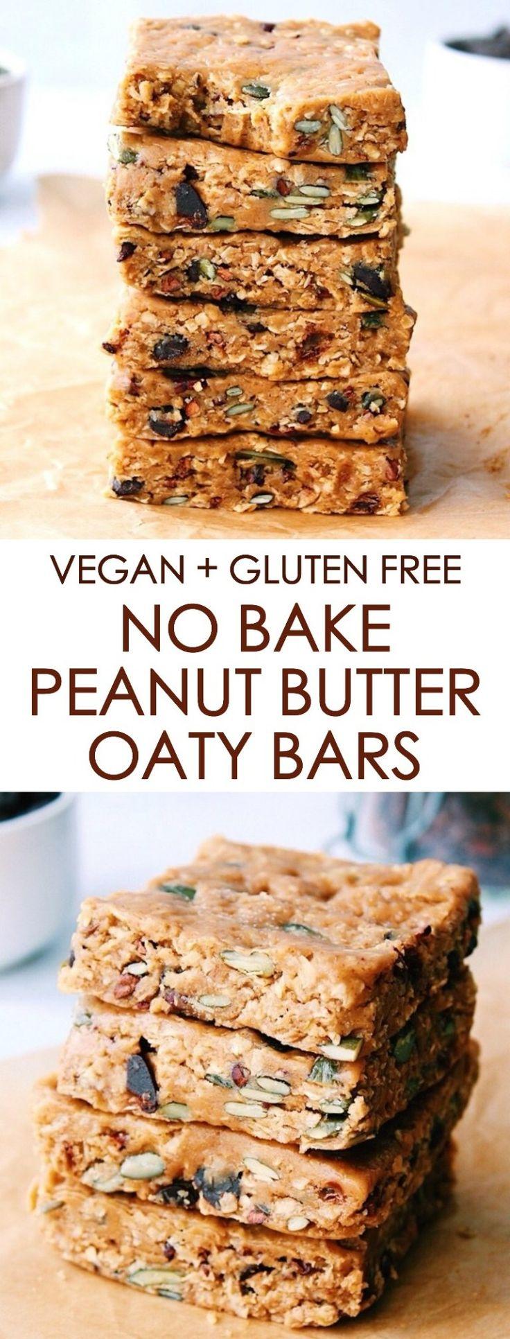 NO BAKE PEANUT BUTTER OATY BARS {vegan, gluten free, soy free}
