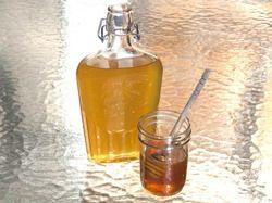 Homemade honey liquer.