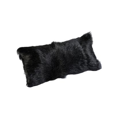 This black cushion will fit with any bed or sofa design, and the wool exterior is sure to be cozy and warm anywhere in your home.