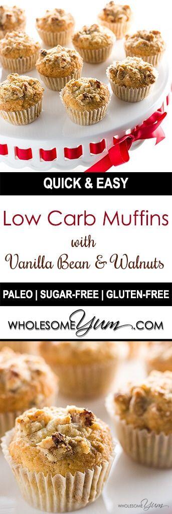 low carb muffins with vanilla bean walnuts paleo gluten free