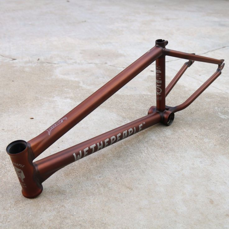 "WE THE PEOPLE BMX BATTLESHIP BICYCLE FRAME 21"" TRANS MATTE BROWN JORDAN GODWIN"