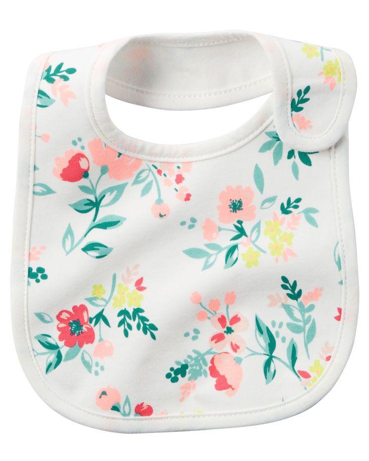 Baby Girl Floral Print Teething Bib | Carters.com Liapela.com