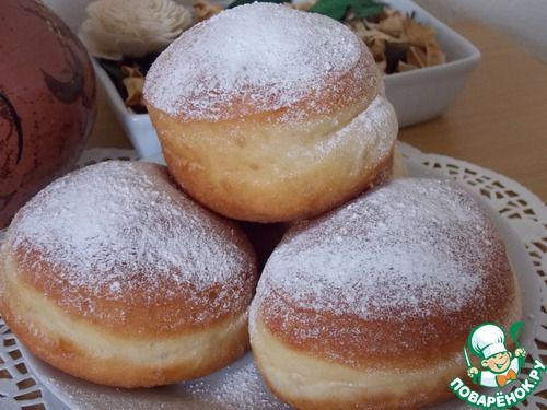 Польские пончики Paczki - кулинарный рецепт