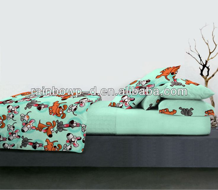 Kids Bedding With Dogs - Buy Bed Cover Set Printed,Cotton Printed Bed Sheet Set,Cotton Quilt Cover Set For Child Product on Alibaba.com