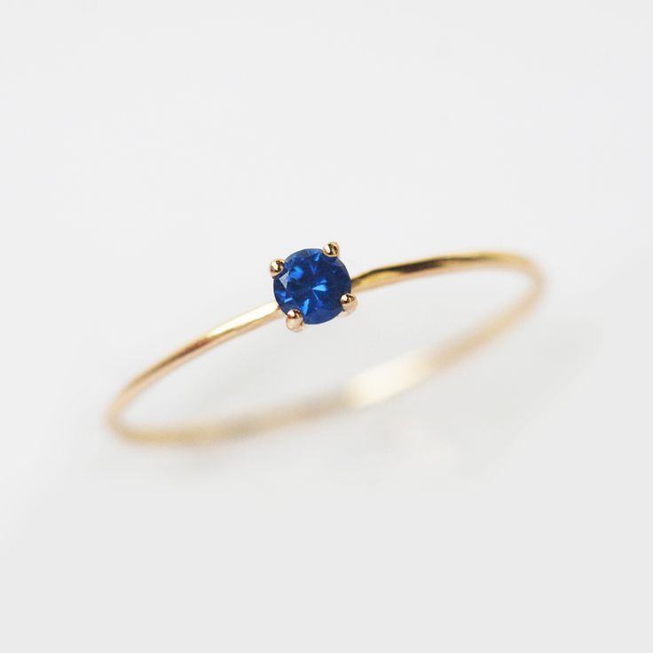 Blue Sapphire Ring September Birthstone Natural Sapphire Ring Dainty Ring Delicate Ring Petite Ring Simple Ring Stacking Ring In 2020 Rings Jewelry Simple Blue Sapphire Rings Blue Gemstone Rings