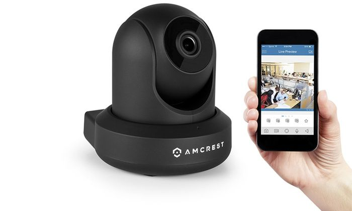 Amcrest Video Monitoring Security Wireless IP Camera with WiFi: Amcrest 1080p Full HD Video Monitoring Security Wireless IP Camera with WiFi, Pan/Tilt, and Two-Way Audio