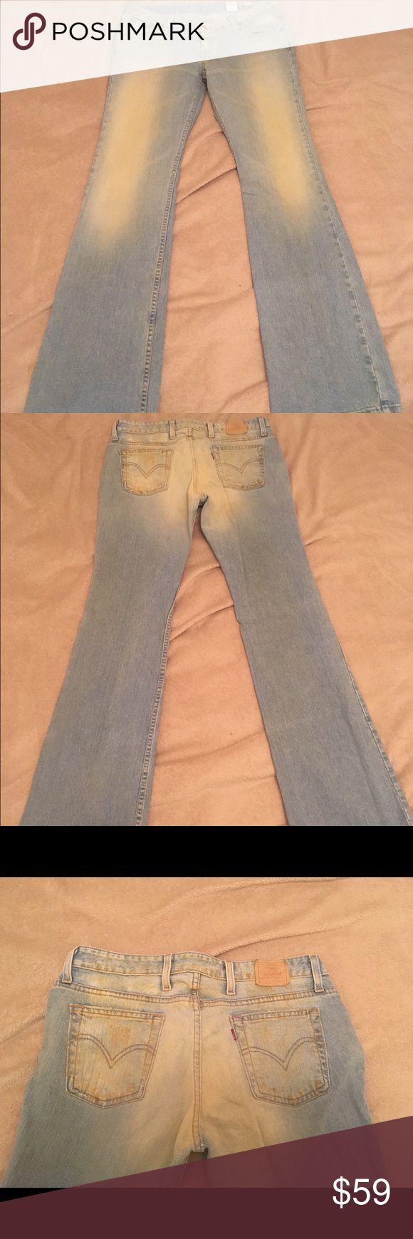 """Vintage Levi's Premium jeans - Final Sale Excellent condition, light wash with bronze distressing. 33"""" inseam. Levi's Jeans Boot Cut"""