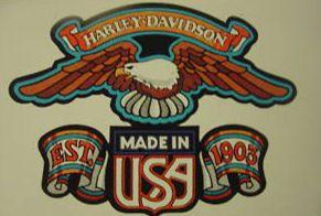 Harley Davidson Decals Logos for Windows, Motorcycle Gas Tanks, Etc