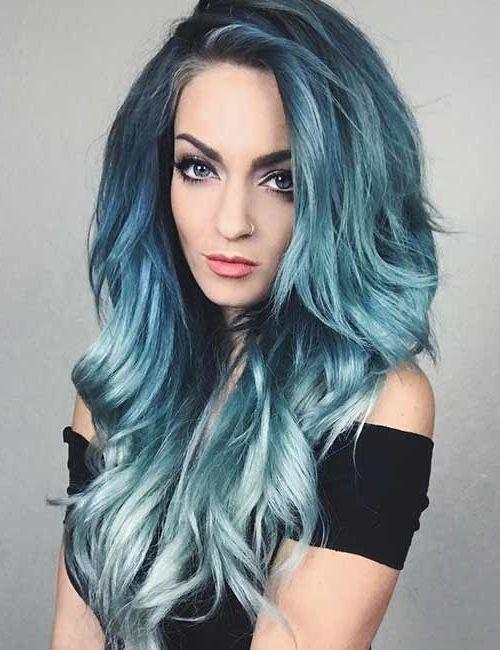 жизнь синий серый омбре на концах волос картинки это приора