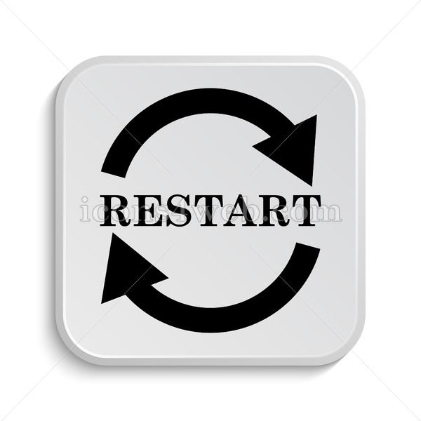 restart icon design restart button design in 2020 icon design web design projects button design restart icon design restart button