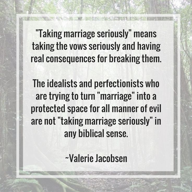 Christian Marriage, divorce, domestic violence, abuse, marital counseling, extramarital affairs *** *** My friend, Valerie Jacobsen posted this statement on her Facebook page and I asked permission…
