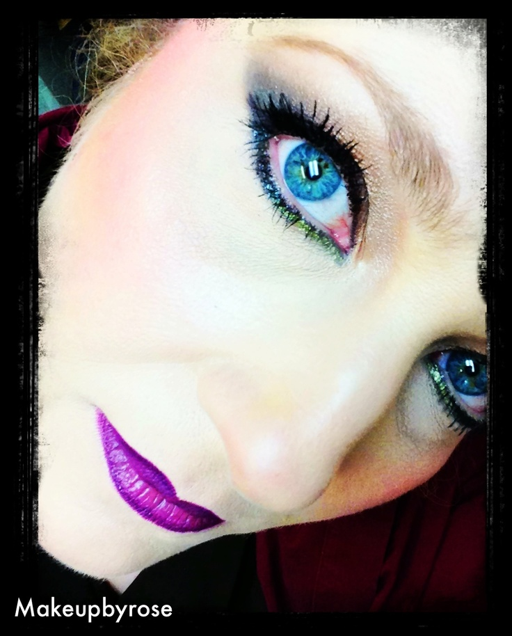 #Lorac #eyeshadow #MAC #Nightmoth #lipliner. MAC #Cyber #lipstick #NARS Larger Than #Life #sparkle #eyeliner