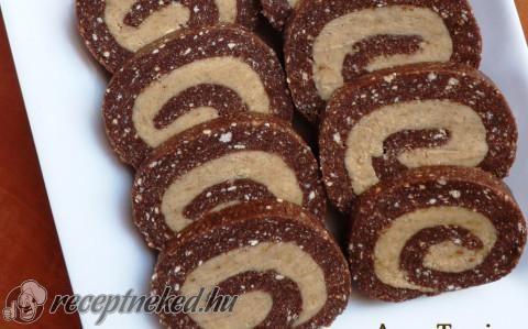 Cappuccinokrémes keksztekercs recept fotóval