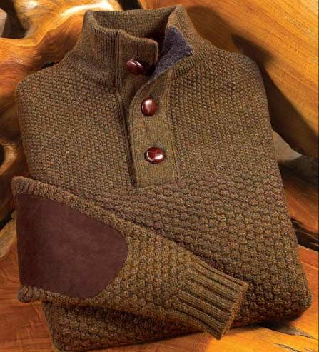 Welcome to autumn! Barbour Shetland Wool Sweater.