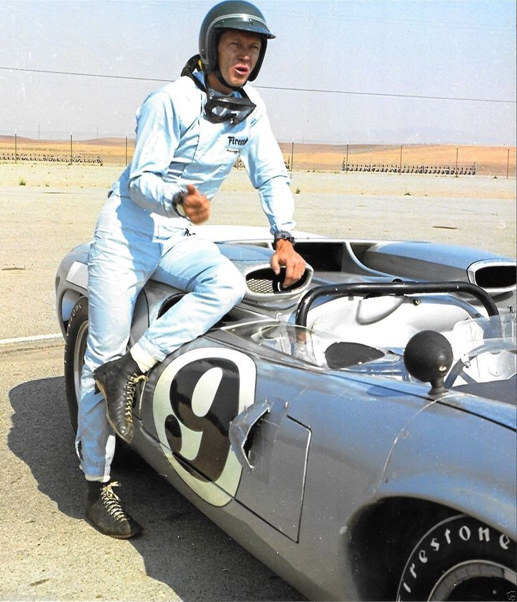 STEVE MCQUEEN EARLY RACING PHOTOGRAPH LOLA T70 OUR MIKE DELANEY OF LE MANS | eBay