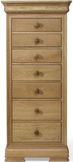 Willis and Gambier Lyon Oak Tall 7 Drawer Chest