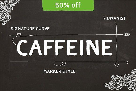CAFFEINE by Typesketchbook Foundry on @creativemarket
