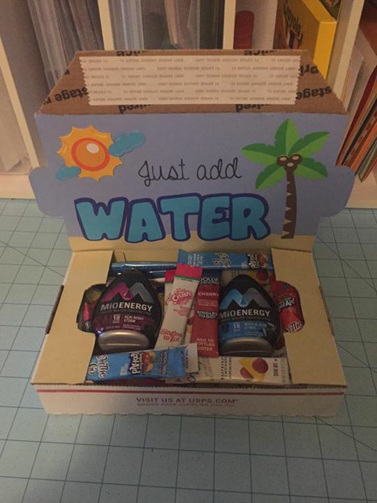 "Just add water small military care package. Perfect for summertime, or supporting an ""adopt a soldier"" recipient."