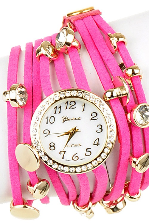 In love with leather wrap watches lately. How gorgeous is this hot pink? Want.: Pink Colors, Leather Wraps, Girls Hairstyles, Pink Leather, Hot Pink, Hair Style, Colors Hairstyles, Wraps Watches, Pink Watches