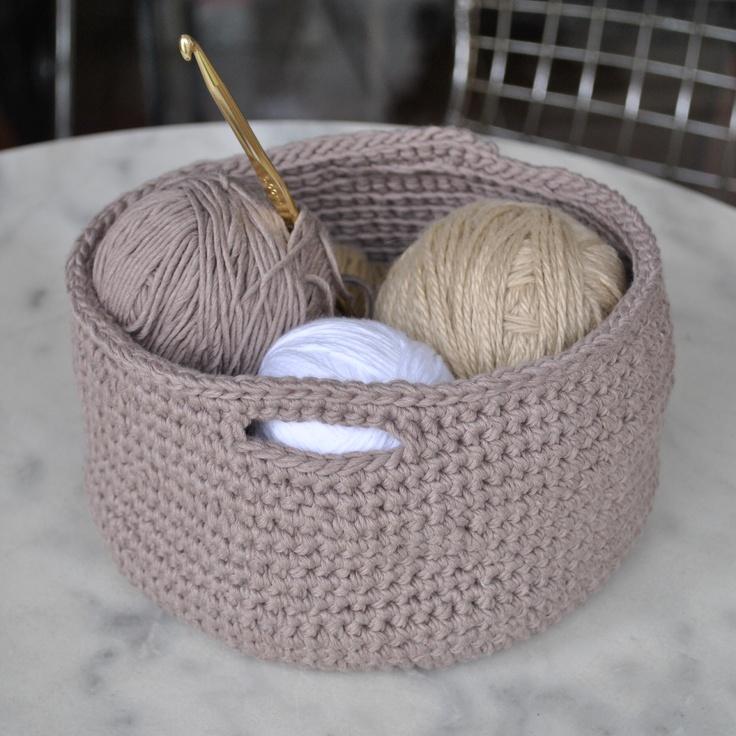 267 mejores im genes sobre cestas crochet en pinterest - Cestas de ganchillo ...
