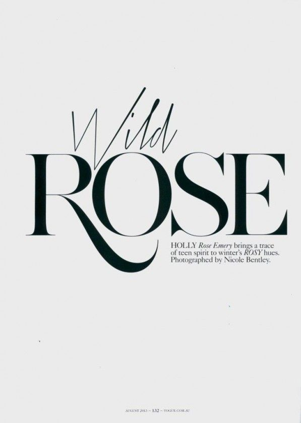 Wild Rose Published in Typography inspiration | #1145